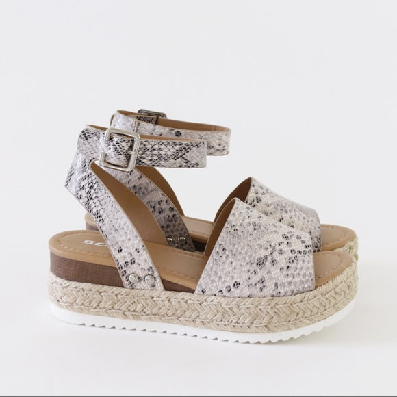 Espadrille Python Wedge Sandals - Shop Making Waves