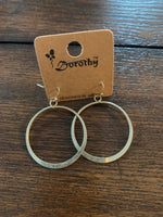 Tappered Round Dangle Hoop Earrings #107
