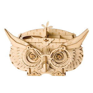 DIY Wooden Box Kits 3D Owl BOX Puzzle Model Kits for Children