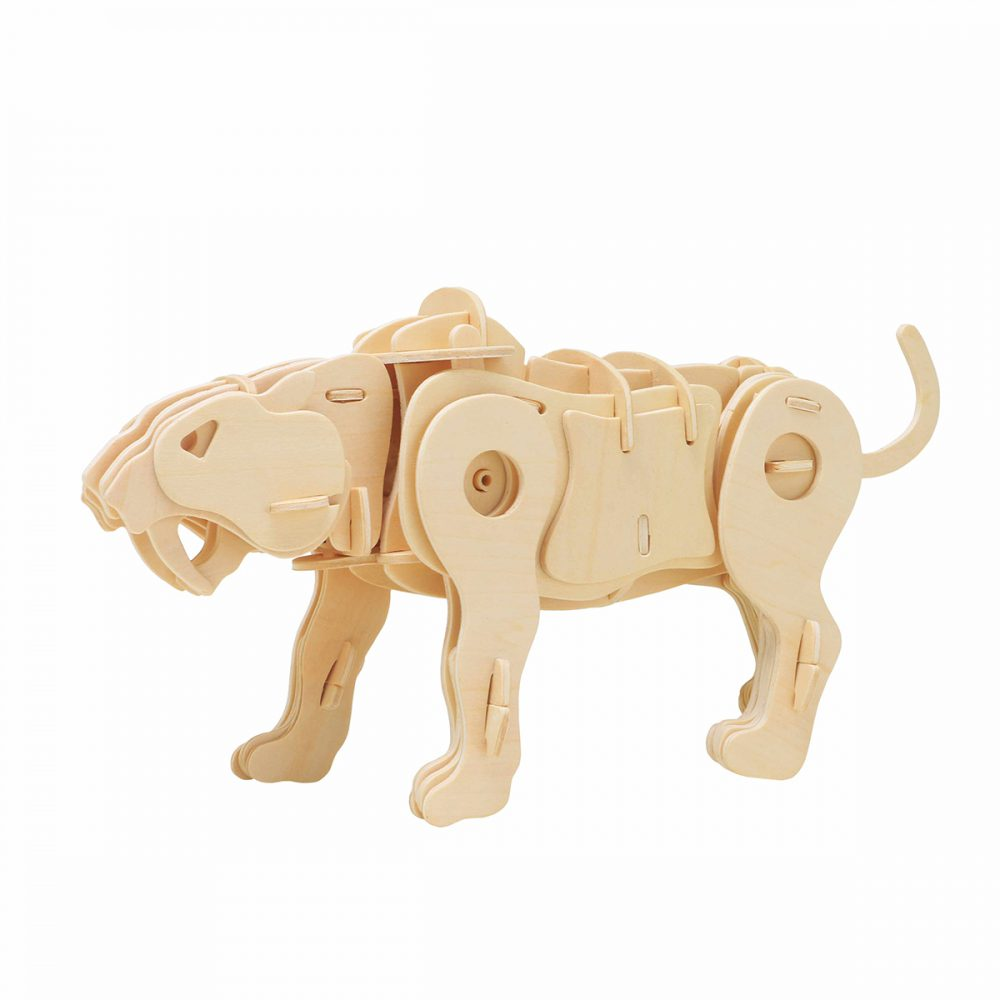 DIY 3D Wooden Animals Puzzle Electric Model Toys (Sound Control)