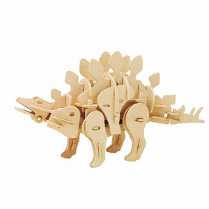 DIY 3D Dinosaur Puzzle Sound Control Electric Dinosaur Toys for Kids