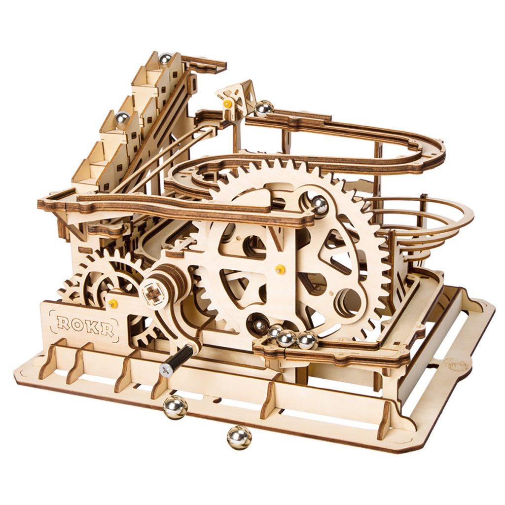 DIY Wood Model Building Kits Drive Waterwheel Coaster for Adult