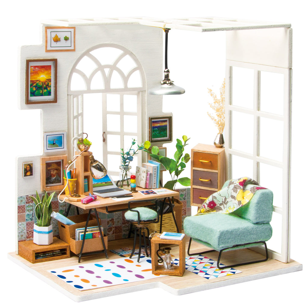 DIY Miniature House Kits Wooden Dollhouse Toy (Soho Time with Furnitures )