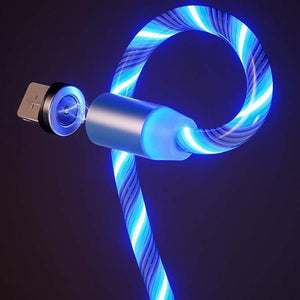 Magnetic Flowing LED Cable For Samsung iPhone 1M