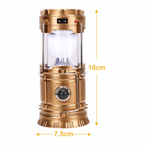 Rechargeable Solar Camping Lantern 300 Lumens