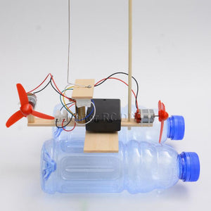 Assembled Wind Turbine Model Boat Wooden Remote Control Boat