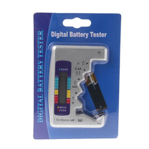 Digital Battery Tester Battery Capacity Detector For C/D/N/AA/AAA/9V 6F22 Batteries /1.55V button cell