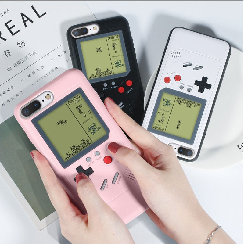 Retro Gameboy Tetris Phone Cases For iPhone