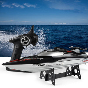 FT012 2.4G RC Boat 45km/h High Speed Racing Boat Speedboat Flipped RTR