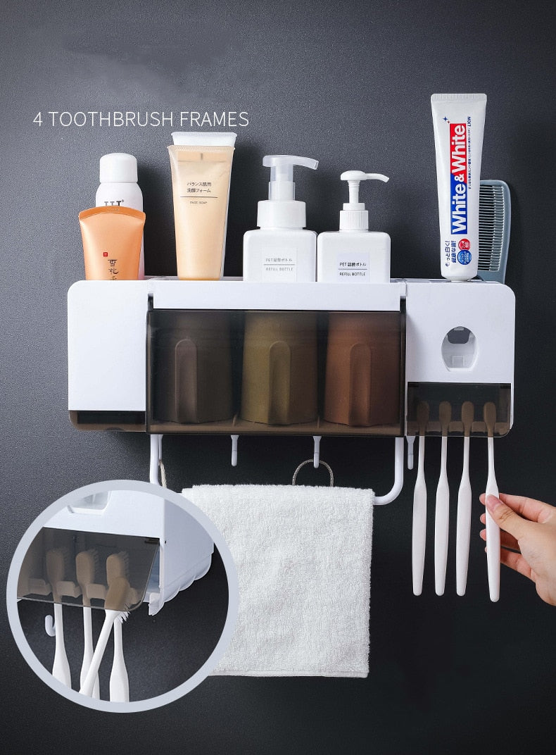 Bathroom Storage Toothbrush Holder Washing Set