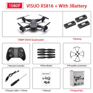 Foldable Drone with 50 Times Zoom WiFi FPV 1080P or 4K Dual Camera