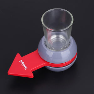 Funny Shot Spinner Party Game Rotatable Arrow Beer Wine Glass Cup Kit