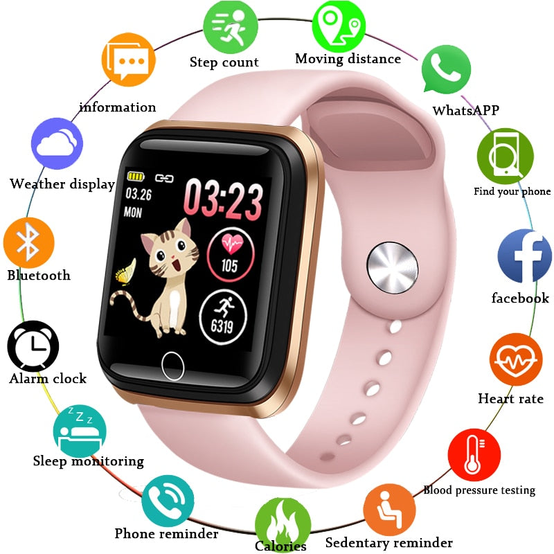 Smart Watch Pedometer Heart Rate Monitor LED color screen for Android ios