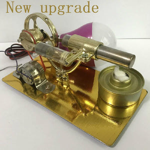 Mini Stirling Engine External Combustion Engine Microgenerator