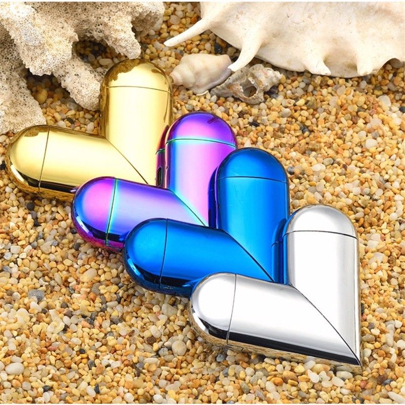 USB Lighter Foldable Lighter Heart Shaped