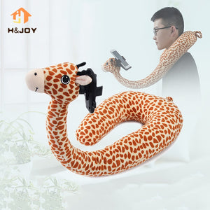 2 In 1 Neck Pillow U Shaped Animal Phone Holder