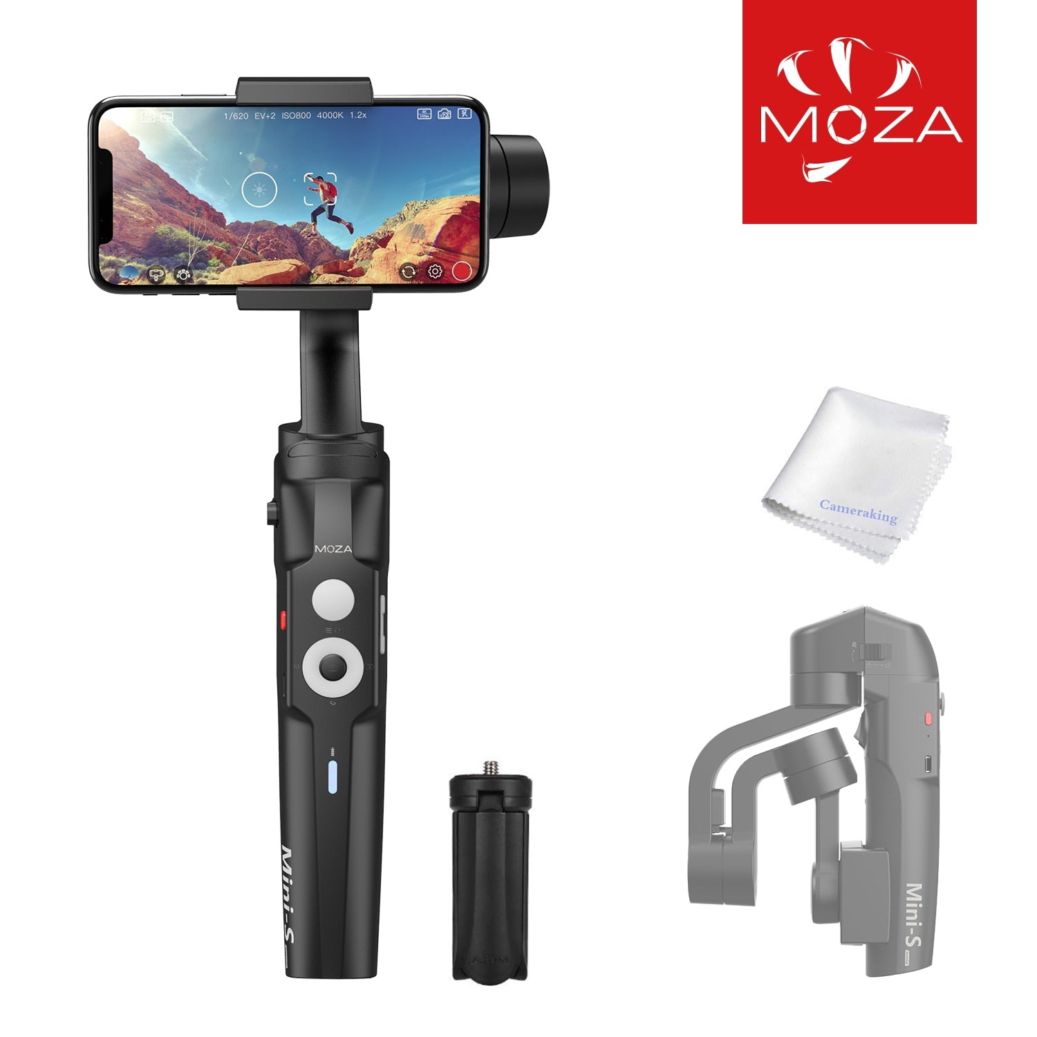 Mini-S Essential Foldable Gimbal stabilizer for Smartphone Timelapse Object Tracking Zoom Vertigo Inception