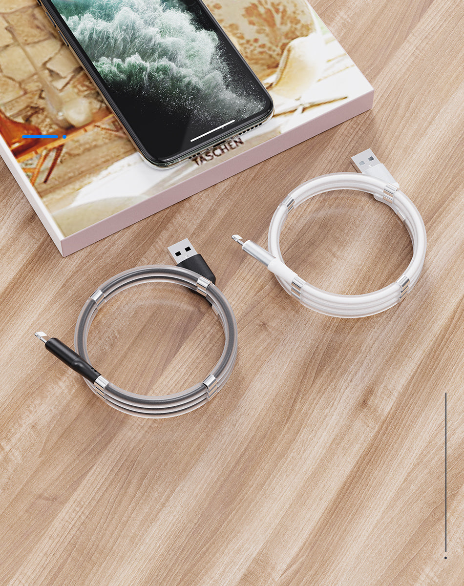 Magnetic Absorption Data USB Charger Cable Easy Storage