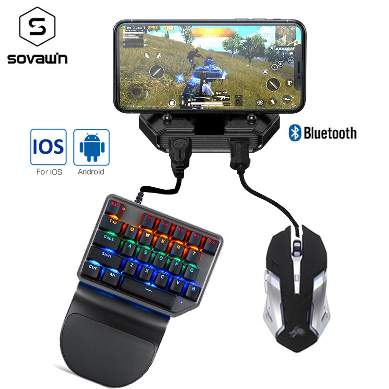 Gamepad Pubg Mobile Bluetooth 5.0 Gaming Keyboard Mouse Converter For IOS iPad to PC
