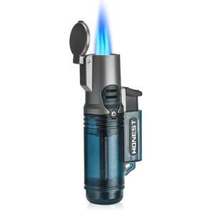 Three Torch Blue Flame Butane Gas Fire Lighters
