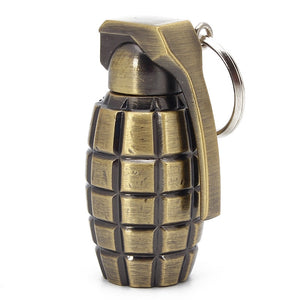 Grenade Permanent Matches Compact Lighter Waterproof Keychain Flint Fire Starter Lighter