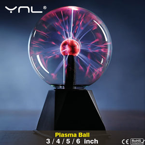 Novelty Magic Crystal Plasma Ball Touch Lamp
