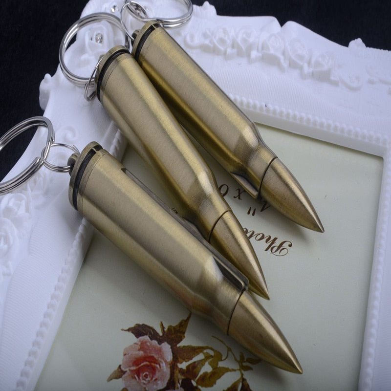 Bullet Outdoor Waterproof Flint Fire Starter Lighter Permanent Match Striker