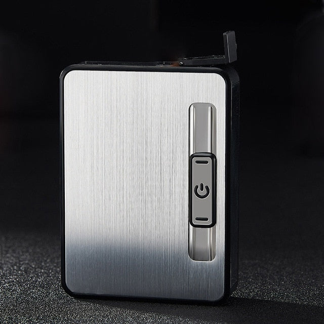 Cigar Case With USB Charging Lighter Windproof Automatic