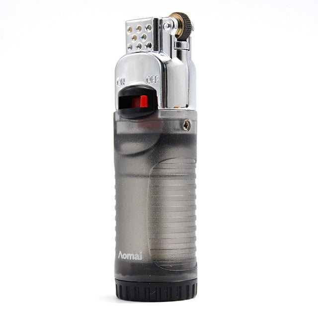 Butane Gas Lighter With Fire Lock Inflatable Ghost Flame