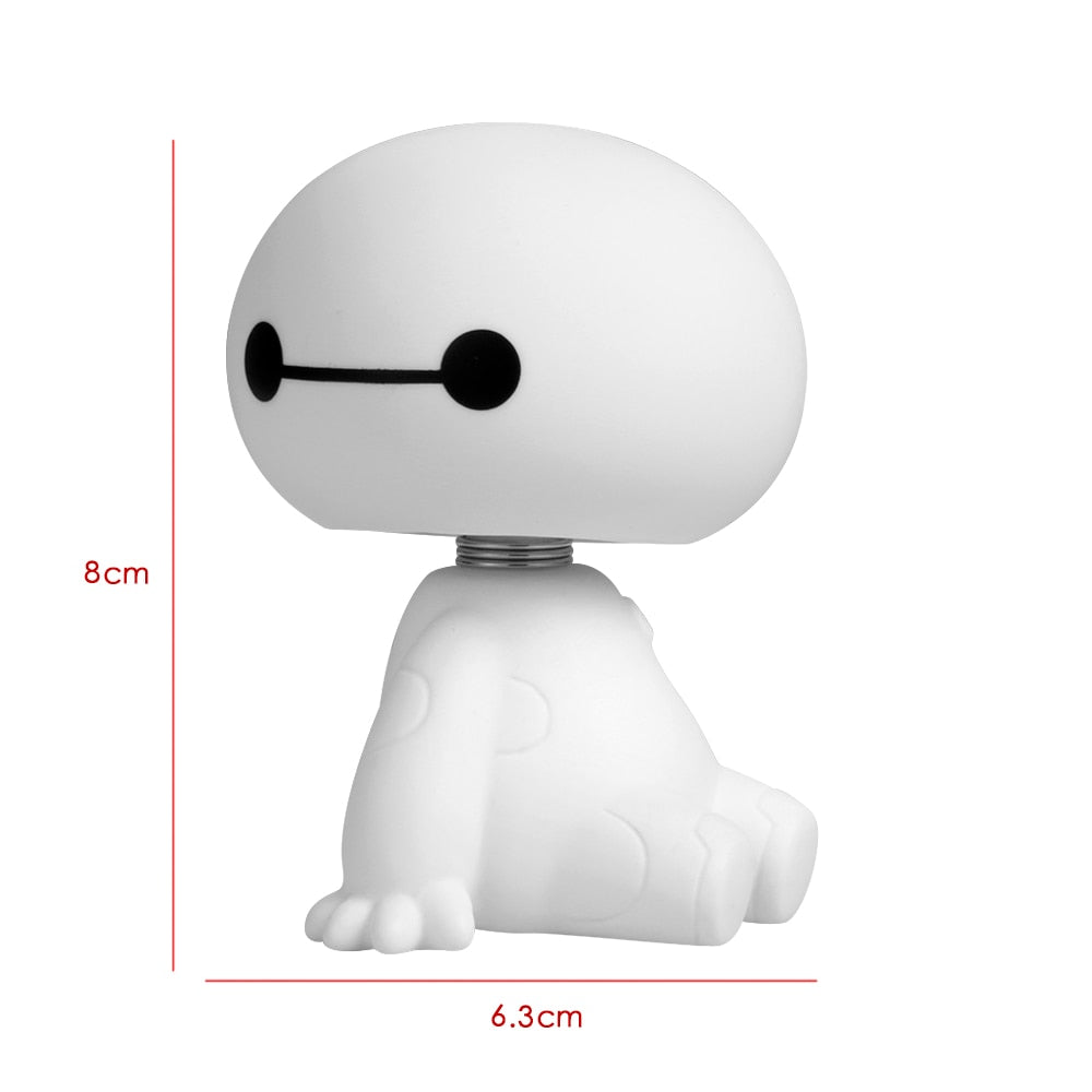Baymax Robot Shaking Head Toy Car Interior Decorations