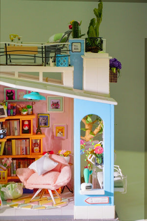 DIY House Children Adult Miniature Wooden Model Building Kits (Dora's Loft with Furniture )