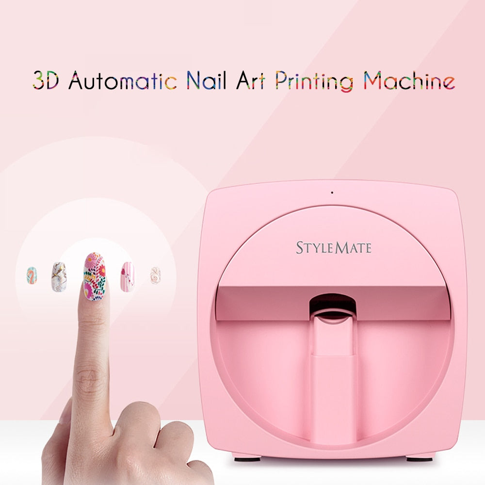 Stylemate Mobile Nail Printer 3D Automatic Nail Painting Easy All-Intelligent Print Machine Manicure Equipment O'2nails