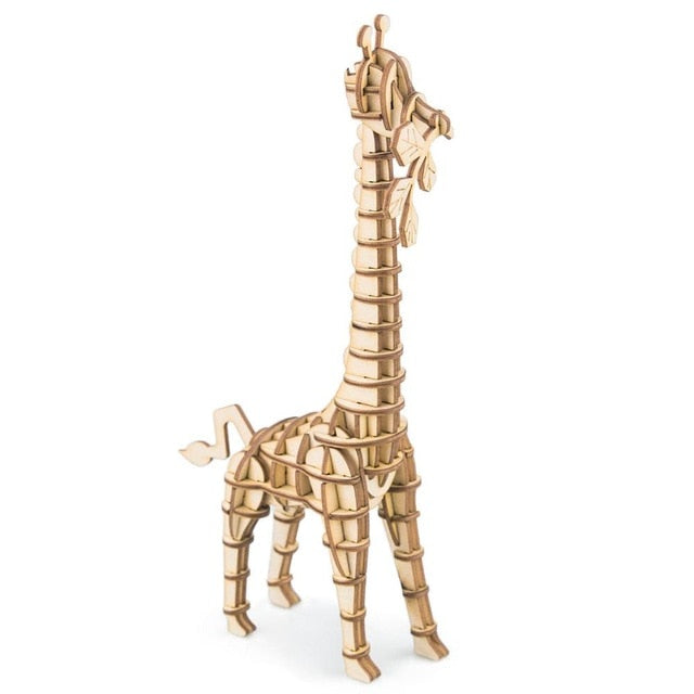 DIY 3D Wooden Animal Building Puzzle Model Building Kits