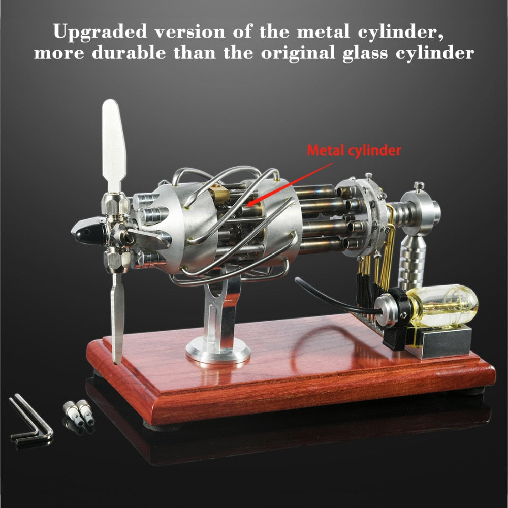 16 Cylinders Swash Plate Hot-air  DIY Stirling Engine Model