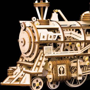 Train Model Locomotive DIY 3D Wooden Puzzle Clockwork Gear