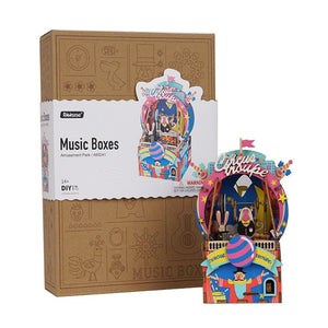 DIY Music Box 3D Wooden Puzzle Musical Toys for Children