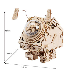 DIY 3D Wood Model Kits Steam Punk Music Box Wooden Kitset Toys