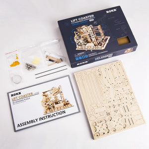 DIY Wood Model Kits for Adult Drive Lift Coaster Model Building Kit