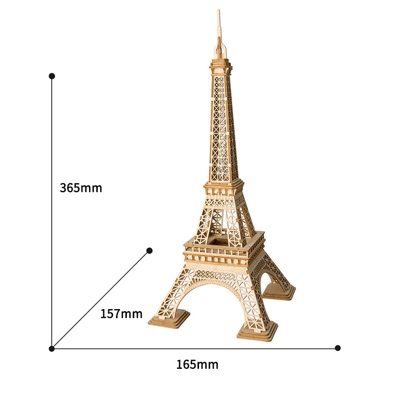 Eiffel Tower Assembly Model Wood Craft DIY Kits Desk Decor Toys for Children