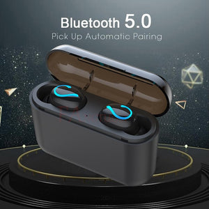 TWS 5.0 Bluetooth Earphone stereo wireless Headset with Microphone