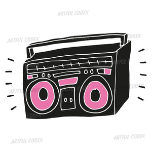 Boombox Illustration