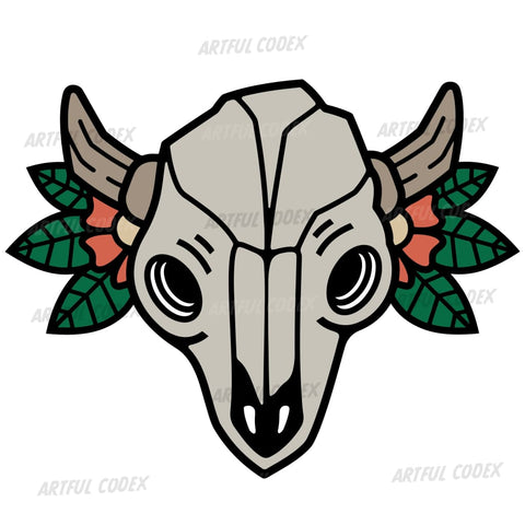 Bull Skull Illustration