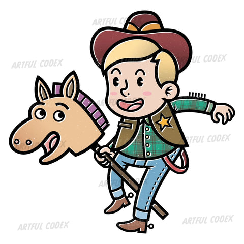 Cowboy Sheriff Illustration