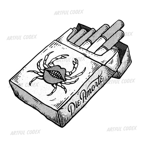 Crab Cigarettes Illustration