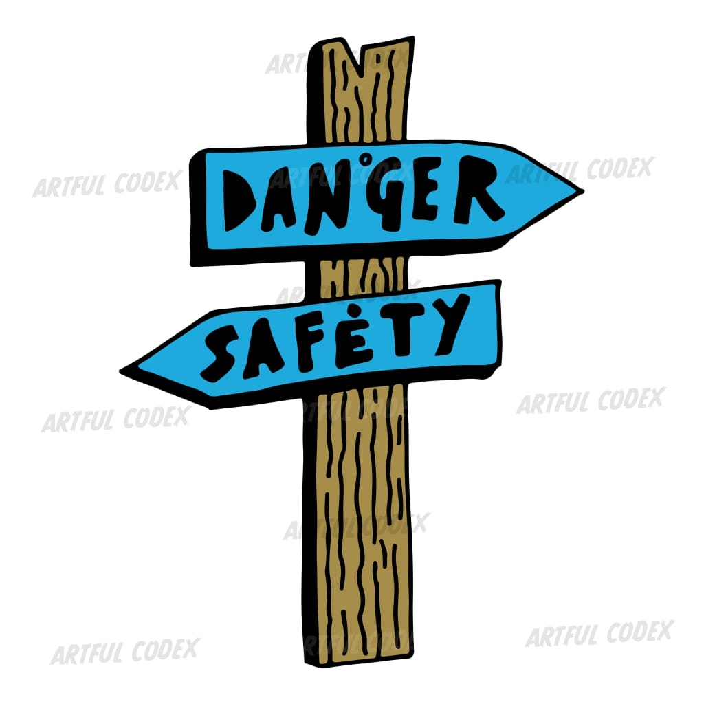 Direction Sign Illustration