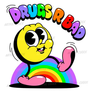 Drugs Rainbow Illustration