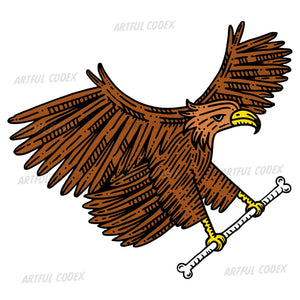 Eagle With Bone Illustration
