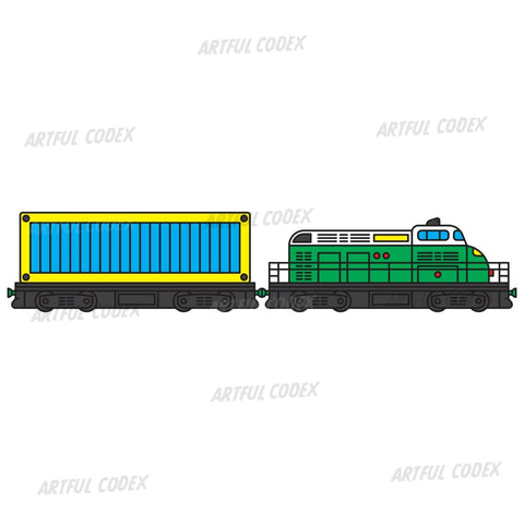 Freight Train Illustration