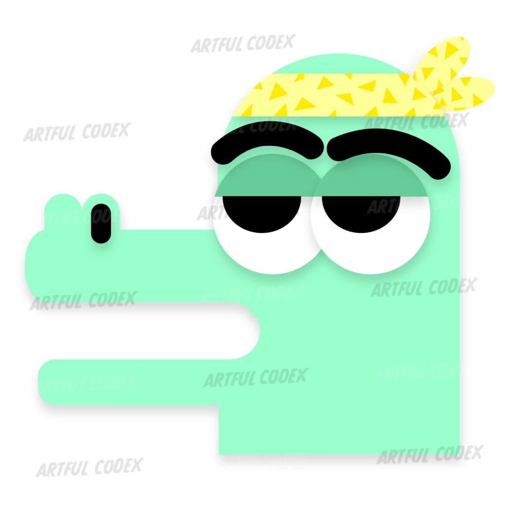 Gangster Croc Illustration