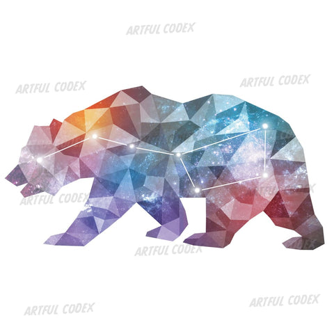 Great Bear Constellation Illustration